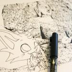 """「クロスワード パクロス」""""パロと旅する動物シーク""""描いてます☆"""